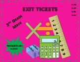 Exit Tickets (3rd grade Math) STAAR/TEKS-aligned