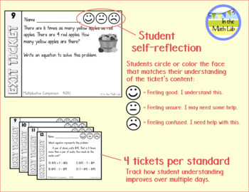 Exit Tickets 4th Grade Math - BUNDLE ALL STANDARDS