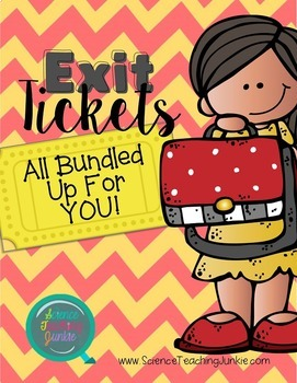 Exit Tickets (Exit Slips) ALL Bundled Up For YOU!