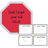 Exit Tickets - Addition Numerals of 5