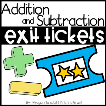 Exit Tickets Addition and Subtraction First Grade