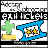 Exit Tickets Addition and Subtraction Kindergarten