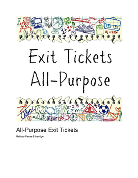 Exit Tickets: All Purpose (Cute Kids theme)
