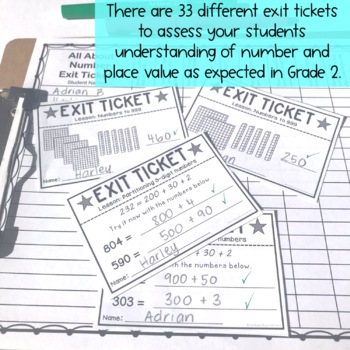 Exit Tickets - All about Numbers - Grade 2