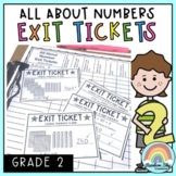 Math Exit Tickets - Exit Slips - Math Assessment - Number Sense Grade 2