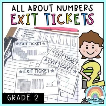 Math Exit Tickets - Math Exit Slips - Math Assessment - Number Sense Grade 2