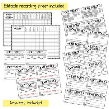 Math Exit Tickets - Exit Slips - Assessment - Grade 3
