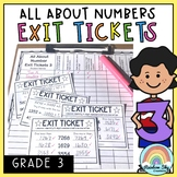 Math Exit Tickets - Exit Slips - Math Assessment - Number Sense Grade 3
