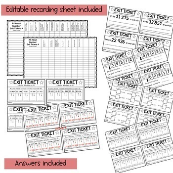 Exit Tickets - Exit Slips - Math assessment - Grade 4