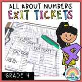Exit Tickets - Exit Slips - Math assessment - Number Sense Grade 4