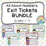 Math Exit Tickets BUNDLE (Maths Assessment - Number Sense