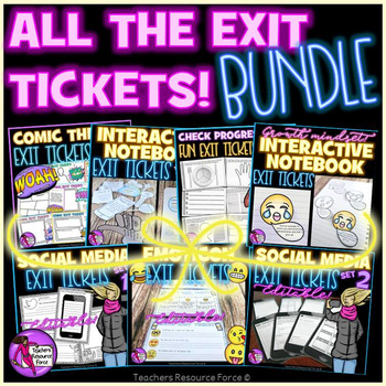 Exit Tickets for Teens - Bundle