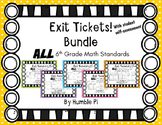 Exit Tickets Bundle-All 6th Grade Math Standards
