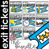 Exit Tickets Bundle for the Year First Grade
