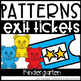 Exit Tickets Bundle for the Year Kindergarten