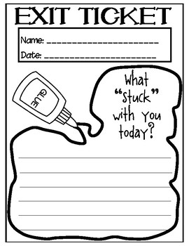 Exit Tickets - Can be used for ANY lesson!