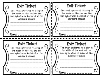 Exit Tickets: Cause and Effect