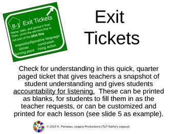 Exit Tickets - Check for Understanding Accountability
