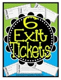Exit Tickets {Closure Activity Cards}
