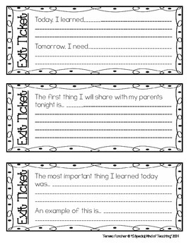 Exit Tickets {Closure Activity Cards}