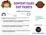 Exit Tickets - Context Clues