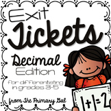 Decimals Exit Tickets {Exit Slips for Quick Assessments}