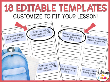 Exit Tickets - Editable - Create Your Own