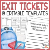Editable Exit Ticket Templates