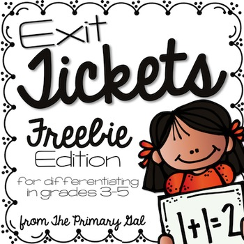 Multiplication & Division Exit Slips FREEBIE!