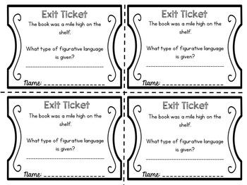 Exit Tickets: Figurative Language