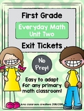 Exit Tickets First Grade (Everyday Math Unit 2)