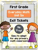 First Grade Exit Tickets (Everyday Math Unit 6)