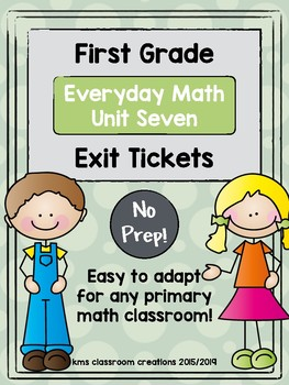 Exit Tickets First Grade (Everyday Math Unit 7)