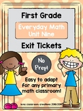First Grade Exit Tickets (Everyday Math Unit 9)