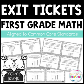 Exit Tickets First Grade Math Common Core