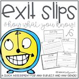 Exit Tickets - For ANY subject & ANY grade!
