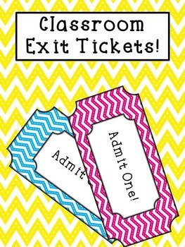 Exit Tickets For All Grade Levels!