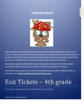 Formative Assessment - 4th grade Math Expressions