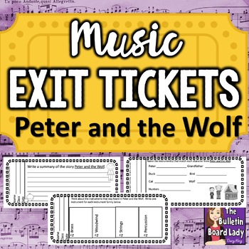 Music Exit Tickets PETER AND THE WOLF
