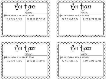 Graphing & Data Exit Tickets {Exit Slips for Quick Assessments}