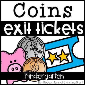Exit Tickets Kindergarten Coins