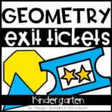 Exit Tickets Kindergarten Geometry