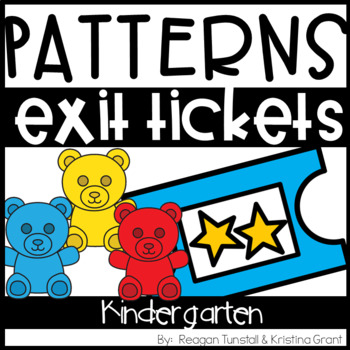 Exit Tickets Kindergarten Number Patterns