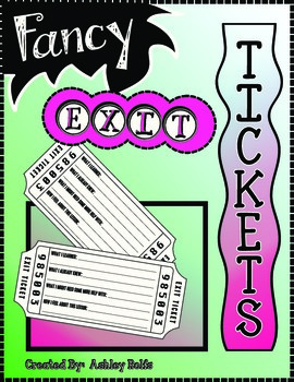 Exit Tickets-LOOK LIKE TICKETS!!