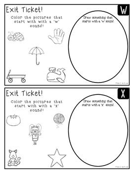 Exit Tickets: Letter Sounds