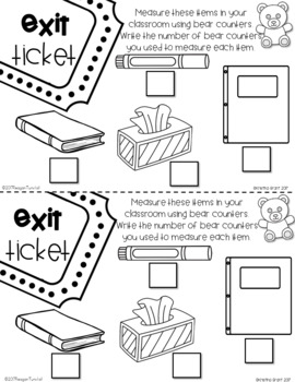 Exit Tickets Measurement First Grade