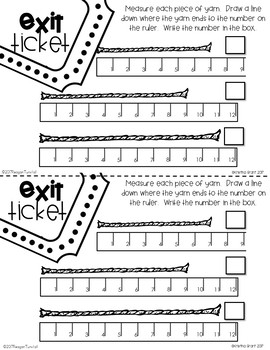 Exit Tickets Measurement for Second Grade