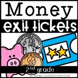 Exit Tickets Money for Second Grade