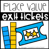 Exit Tickets Place Value First Grade