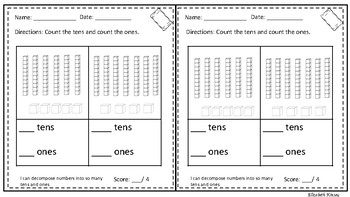 exit tickets place value 1st grade by elizabeth kinsey tpt. Black Bedroom Furniture Sets. Home Design Ideas